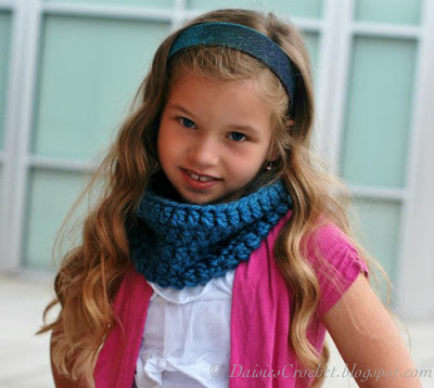 4.how to beginner easy crochet cowl for children girl