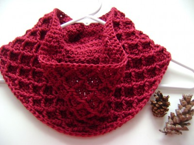 41.diamond easy crochet cowl scarf free pattern