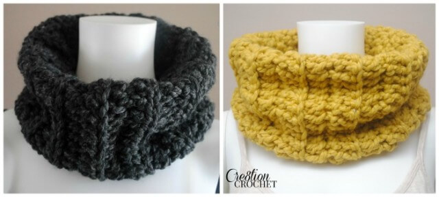 5.Chunky-Ribbed-Cowl-FREE-crochet-pattern-on-cre8tioncrochet