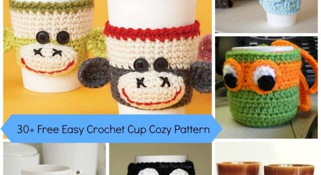 30+ Free Easy Crochet Cup Cozy Pattern
