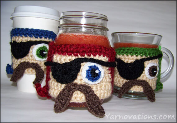 free easy Crochet pattern Pirate Cozy for Talk Like a Pirate Day