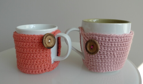 free easy Cup Cozy Tutorial crochet pattern
