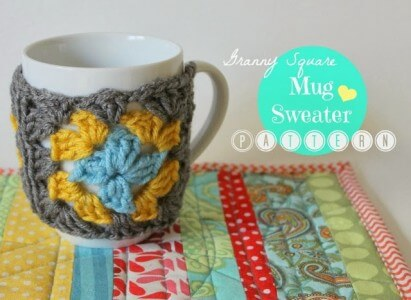 30 Free Easy Crochet Cup Cozy Pattern