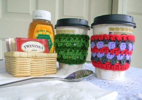 Free easy Coffee Cozy Crochet Pattern