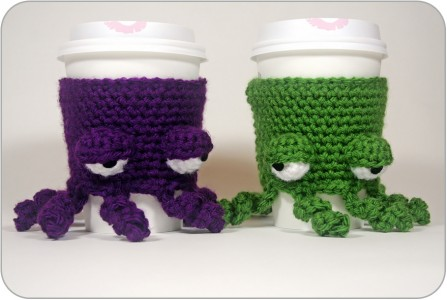 free easy Free Pattern Grumpy Octopus Coffee Cup Cozy