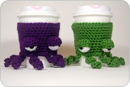 free easy Free Pattern Grumpy Octopus Coffee Cup Cozy