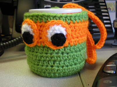free easy Heroes in a Halfshell on a Coffee Mug crochet pattern