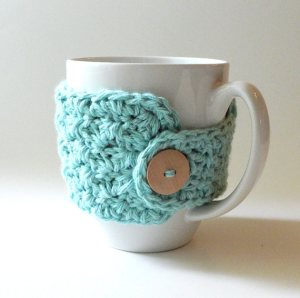 free easy Mug cozy crochet pattern