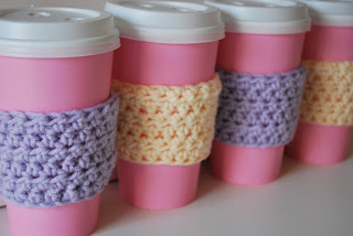 free easy Quick Crochet Coffee Sleeve Pattern