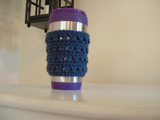 free easy X Stitch Coffee Cup Cozy-crochet Free Pattern