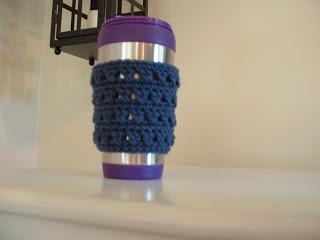free easy X Stitch Coffee Cup Cozy-crochet Free Pattern