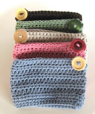 free easy free crochet Mug cozies pattern