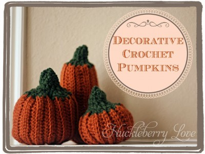 amazing pattern Decorative Crochet Pumpkins