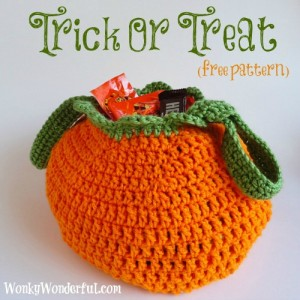Amazing Free Chrochet Pattern Trick Or Treat Bag