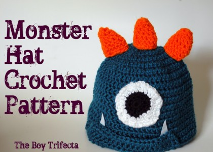 amazing free Crochet Monster Hat Pattern