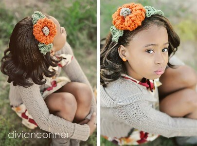 amazing free crochet pattern Pumpkin headband