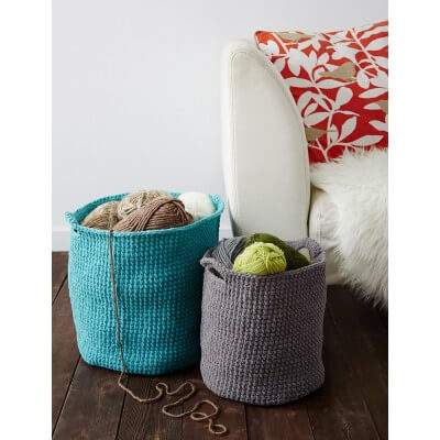 Deep Simple Crochet Basket Free Pattern