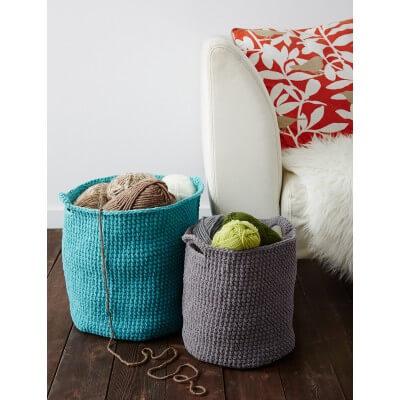 Deep Simple Crochet Basket Free Pattern