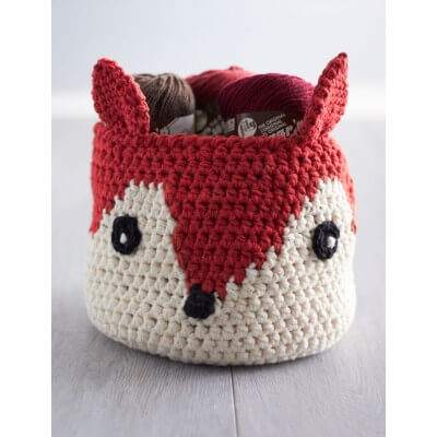 Foxy Croched Basket Free Pattern