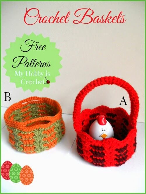 Free Crochet Pattern For Easter Basket : 23 free &easy crochet baskets patterns