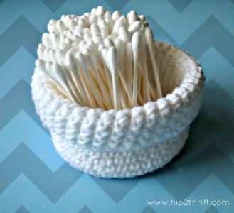 Cotton Crochet Basket Free Pattern