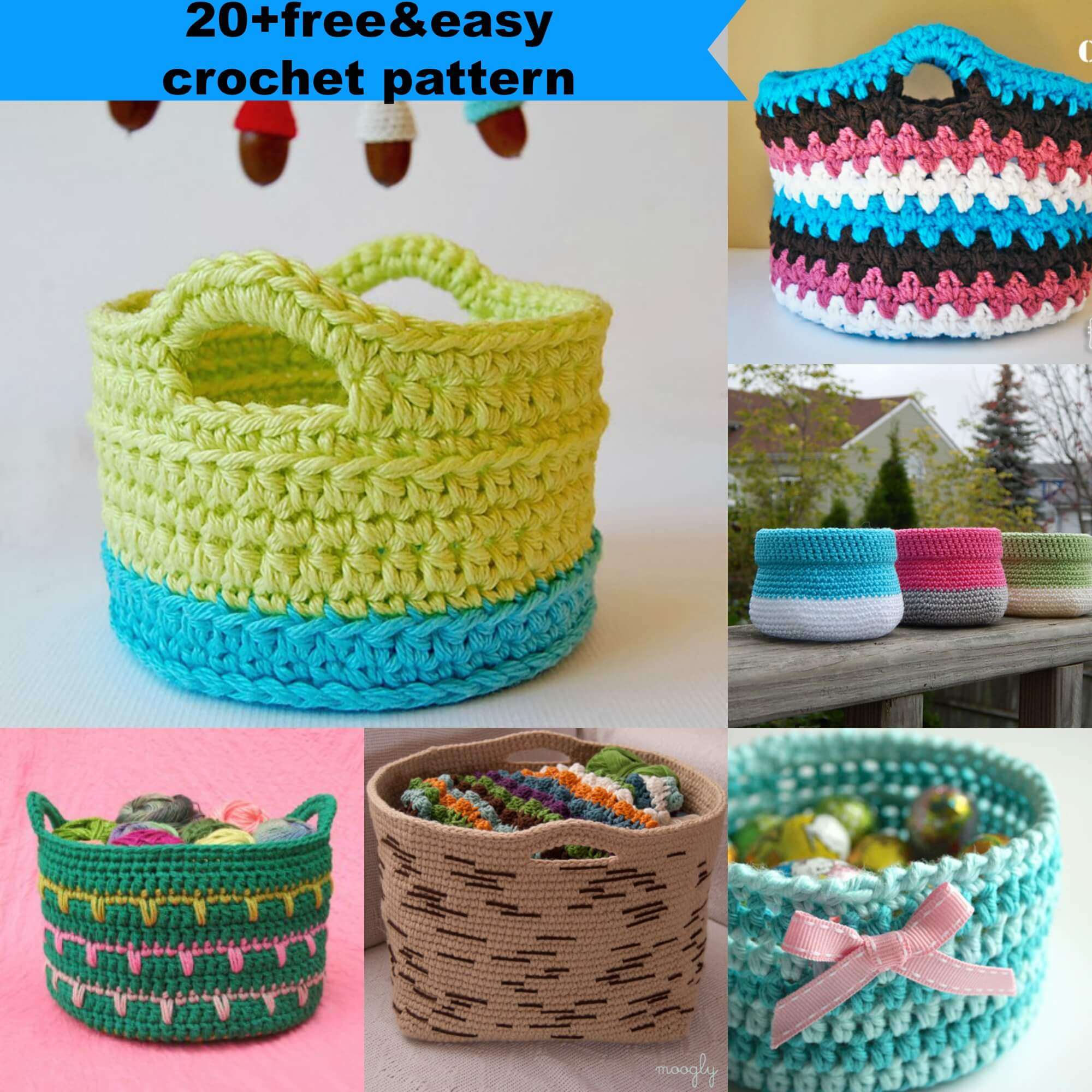 23 Free Easy Crochet Baskets Patterns