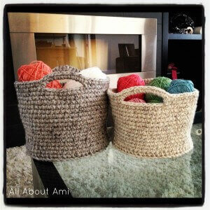 Crochet Basket With Bulky Yarn Free Pattern