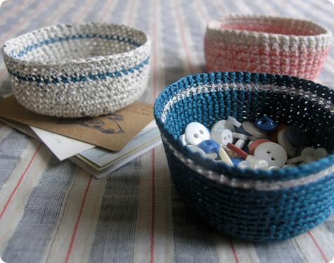 Small Crochet Baskets Free Pattern
