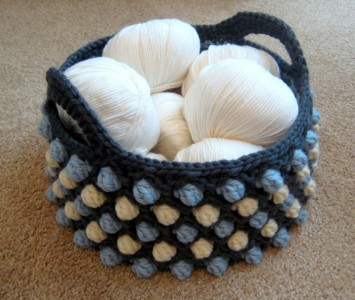 Honeycomb Pop Crochet Basket Free Pattern