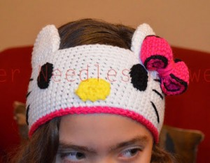 Crochet Hello Kitty Headban Free Pattern