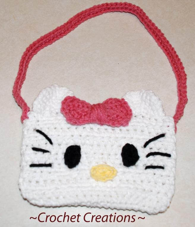 Free Crochet Pattern For A Hello Kitty Hat : 12+ Free Hello Kitty Crochet Patterns inspired