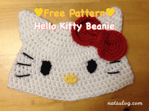 Hello Kitty Crochet Beanie Free Pattern