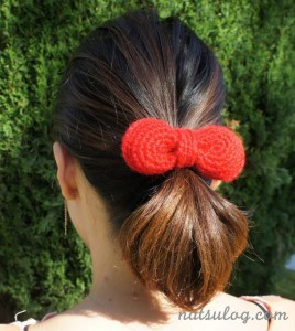 Hello Kitty Crochet Bow Free Pattern