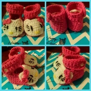Hello Kitty Crochet Newborn Shoes