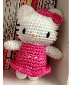 Hello Kitty Doll Crochet Free Pattern