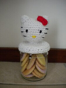 Crochet Hello Kitty Jar Free Pattern