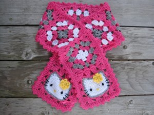 Hello Kitty Chrochet Scarf Free Pattern