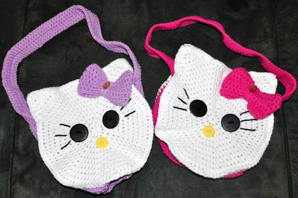 Crochet Purse Patterns Hello Kitty : 12+ Free Hello Kitty Crochet Patterns inspired