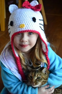 Hello Kitty Hat With Braids Crochet Pattern