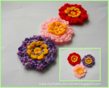 10.how to make crochet flower free collage dainty flowers