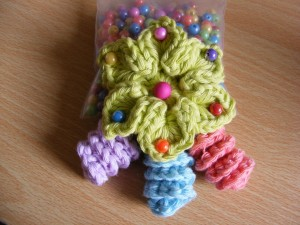 25. easy crochet star flower with spiral free pattern