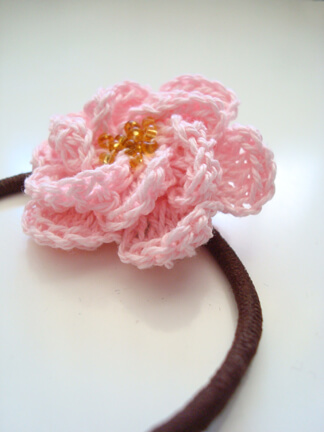 31. crochet rose flower free pattern tea-rose-for-pony