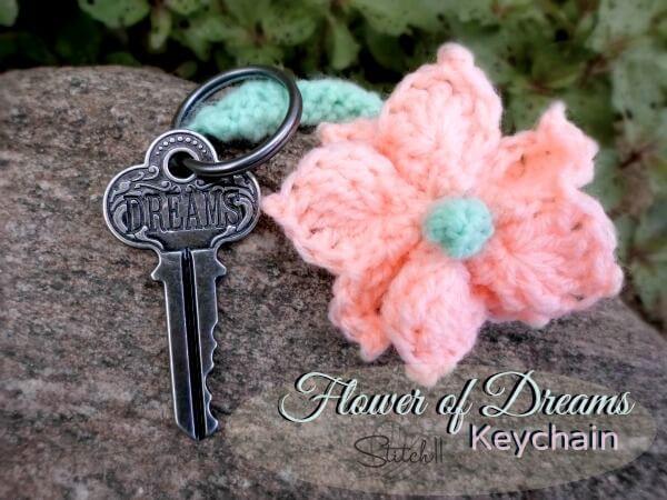 41. free pattern crochet Flower-of-Dreams-Keychain