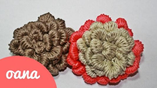 44. 3d crochet rose free pattern