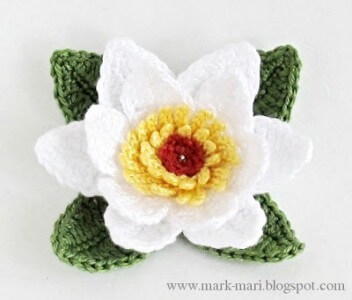 9.crochet how to beginner flower free pattern