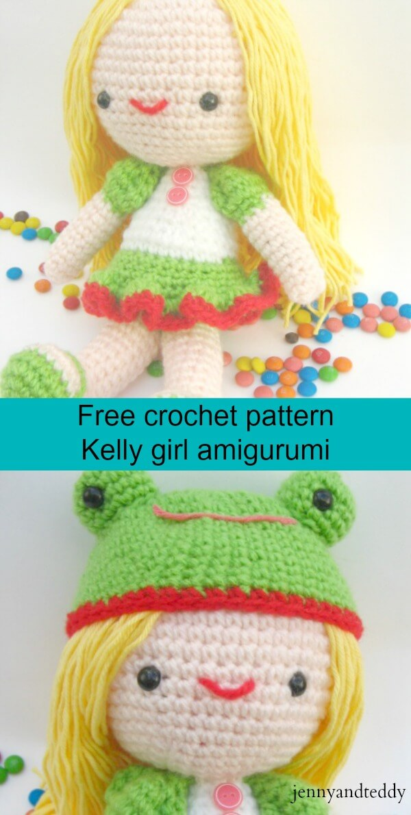 Kelly girl free migurumi crochet pattern