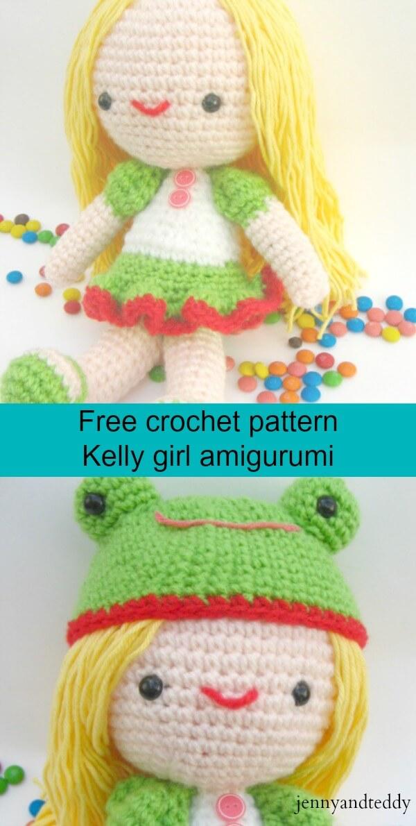 Kelly girl free migurumi crochet pattern