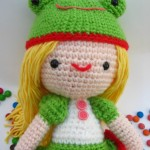 Kelly girl with frog hat free amigurumi pattern