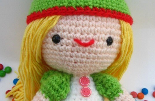 free amigurumi human girl beginner pattern by jennyandteddy