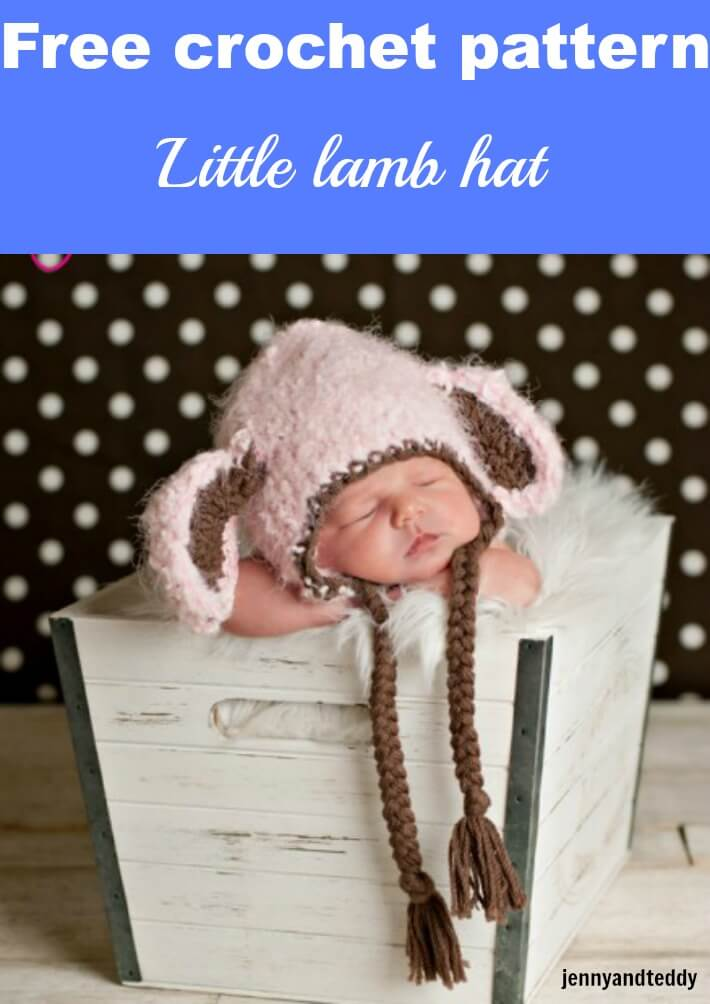 little lamb crochet hat free pattern by jennyandteddy